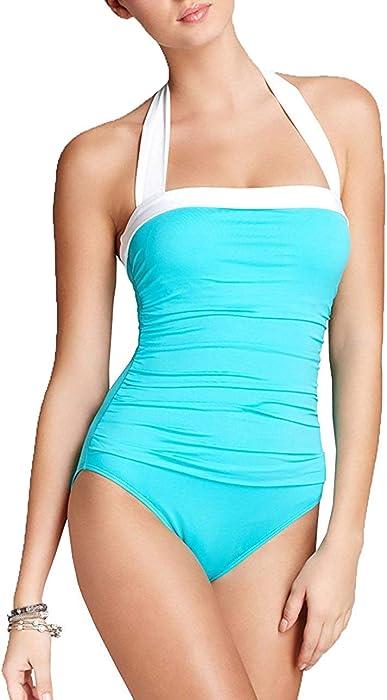 34ba38d2288 Lauren by Ralph Lauren Women's Tummy-Control Ruched Halter One-Piece  Swimsuit (6