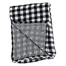lulujo Reversible Muslin Swaddling Blanket - Navy