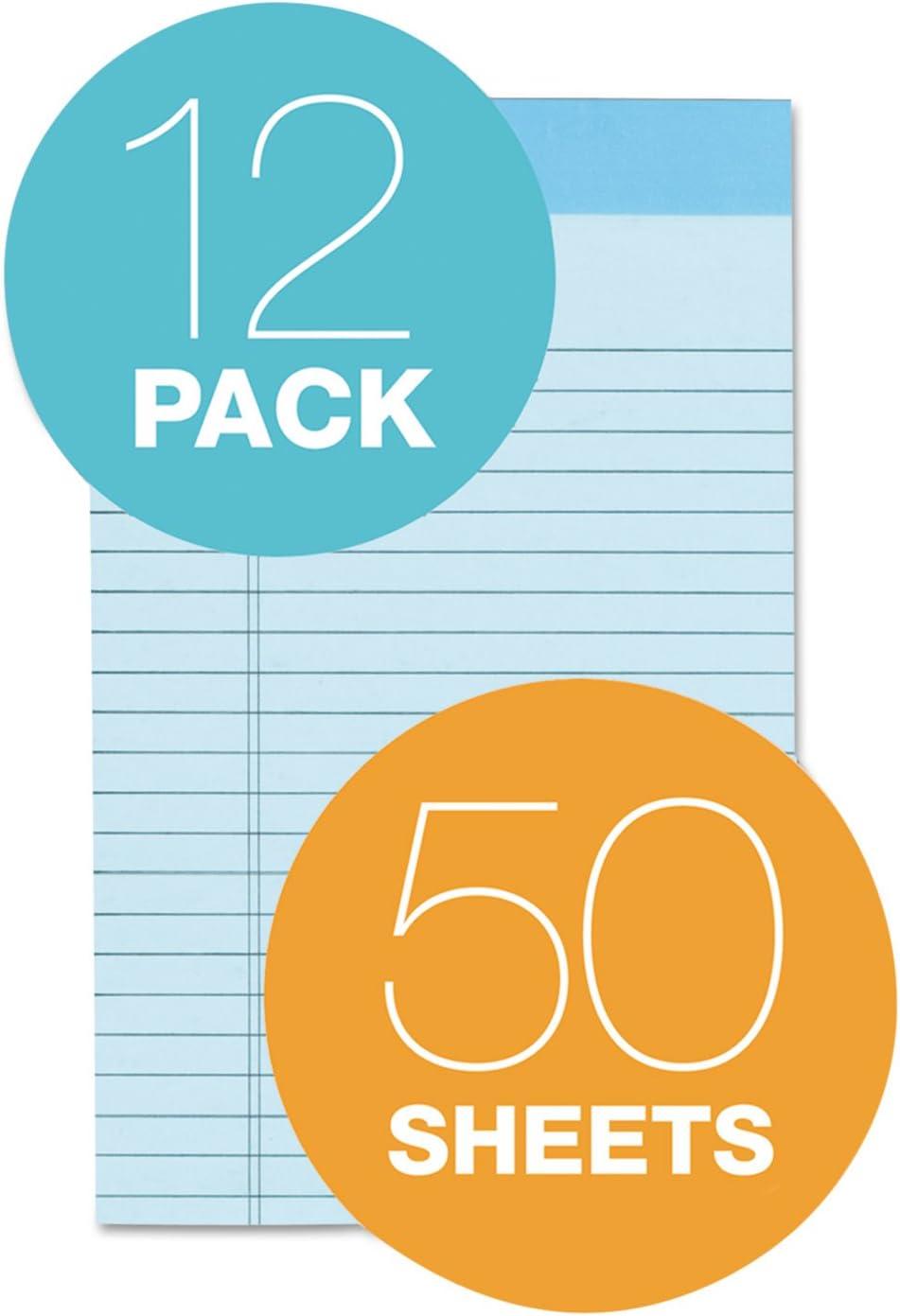 TOPS 63020 Prism Plus Colored Legal Pads Blue 50 Sheets 5 x 8 Dozen