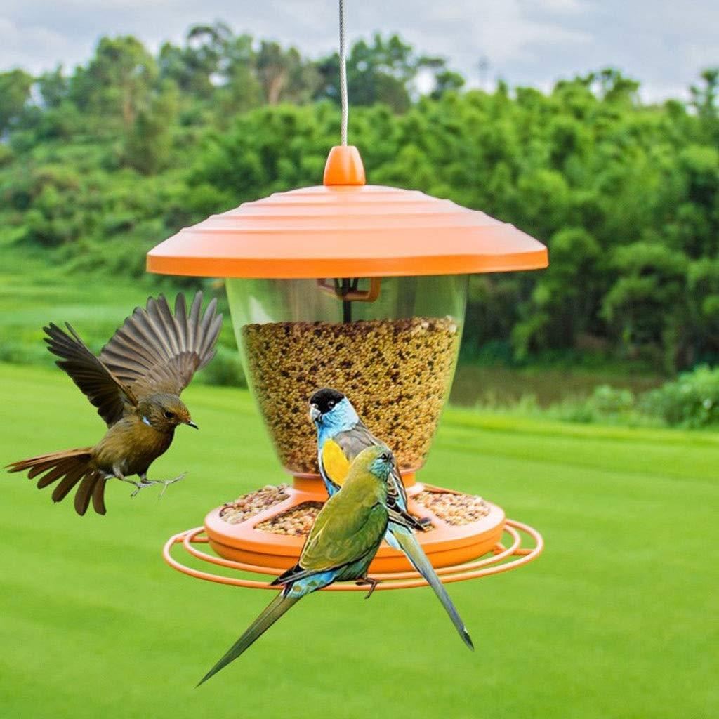 HZPXSB Seed Feeder Bird Feed Trough Feeding Station Outdoor Bird Food Box