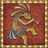 Ceramic Tile Mural - Kokopelli A Right - by Dan Morris - Kitchen backsplash / Bathroom shower