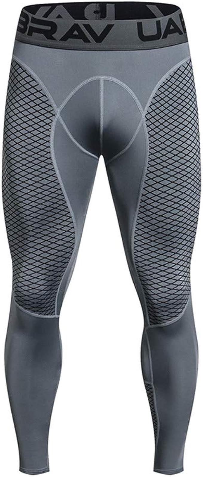 Pantalones de Fitness de los Hombres Compresión Mallas Hombre Secado Rápido Transpirable Hombre Deporte Pantalones Entrenamiento Fitness Pantalones de ...