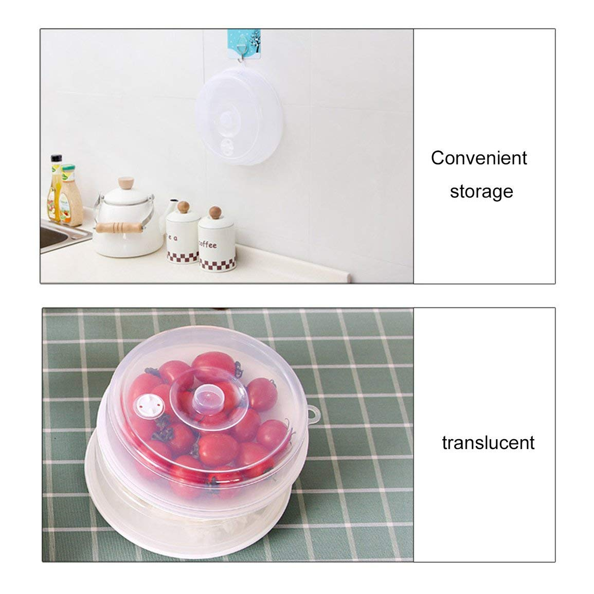 Kitchen Sealing Cover Heating Cover Oil Presenter Cover Fresh Keeping Sealing Special for Refrigerator Microwave Oven