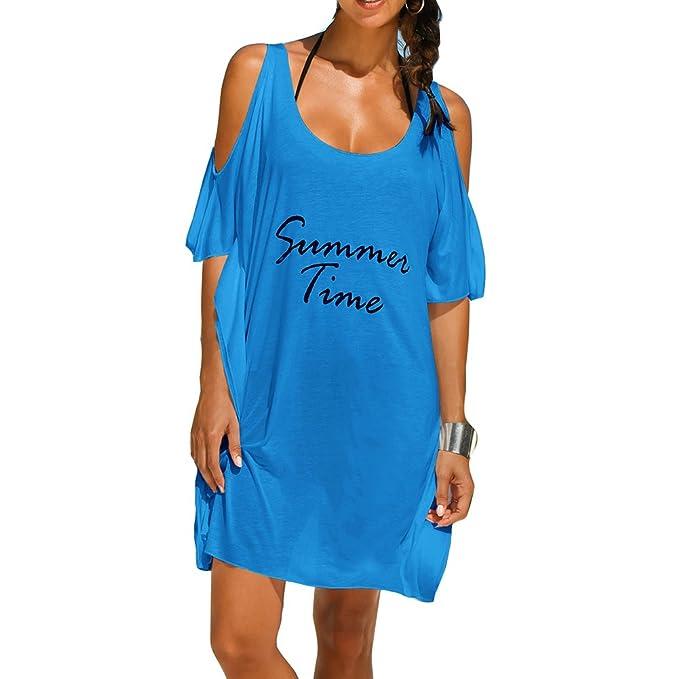 Vestido de playa Mujer Protección UV Abito de verano Tunica ...