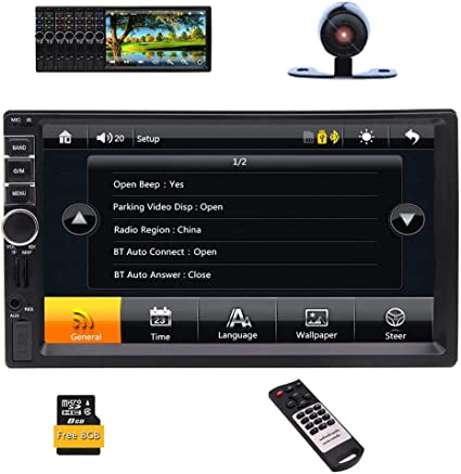 "7/"" HD 2Din Car Radio MP5 Player Bluetooth Touch Screen GPS Navigation USB FM+MAP"