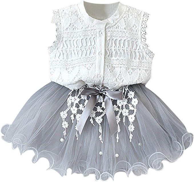 Vestido de niña, Riou Vestidos sin Mangas con Estampado Flores ...