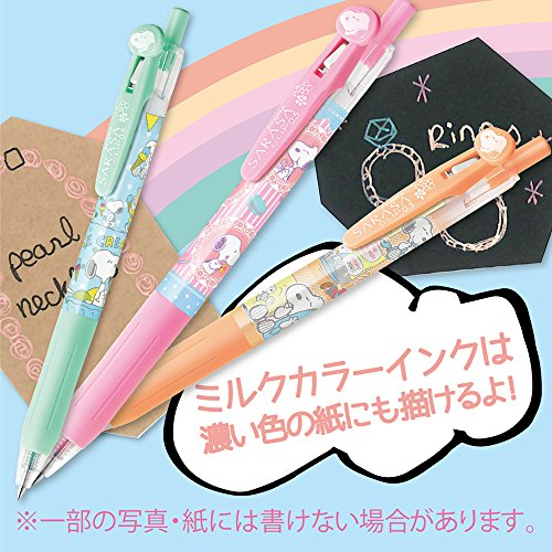 ZEBRZ SARASA Clip 0.5mm Ballpoint Pen , SNOOPY, 5 Colors Set , JJ29-SN2-5CB Photo #9
