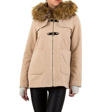 various colors ebf05 3349e Schuhcity24 Damen Mantel Fell Jacke imitat Filzjacke Kurze ...
