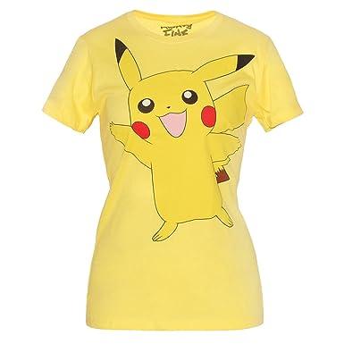 772044ab Amazon.com: Pokemon Pikachu Wave Junior Women's T-Shirt: Clothing