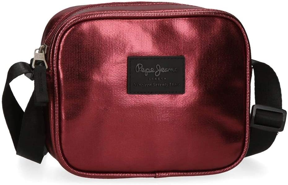 Pepe Jeans April Bandolera Rojo 18x15x5 cms Poliéster