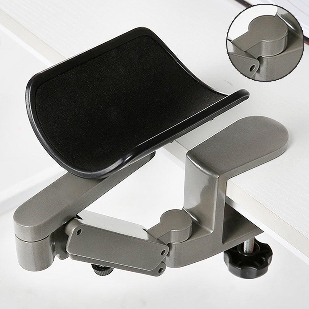 centtechi Ergonomico Supporto poggia braccio, polso o gomito da scrivania, regolabile, in lega di alluminio, per chi lavora al computer