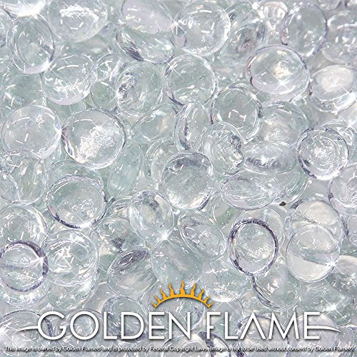 Fireplace Flame Glass Crystals (Golden Flame® 10-Pound Fire Glass