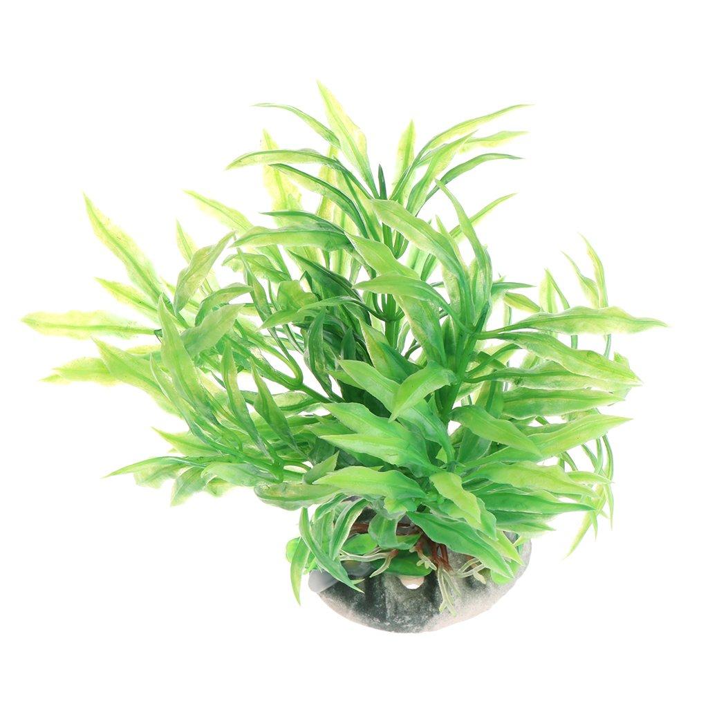 Daxibb Dabixx Aquatic Plants Acuario Plástico Verde Vivid Ornament ...