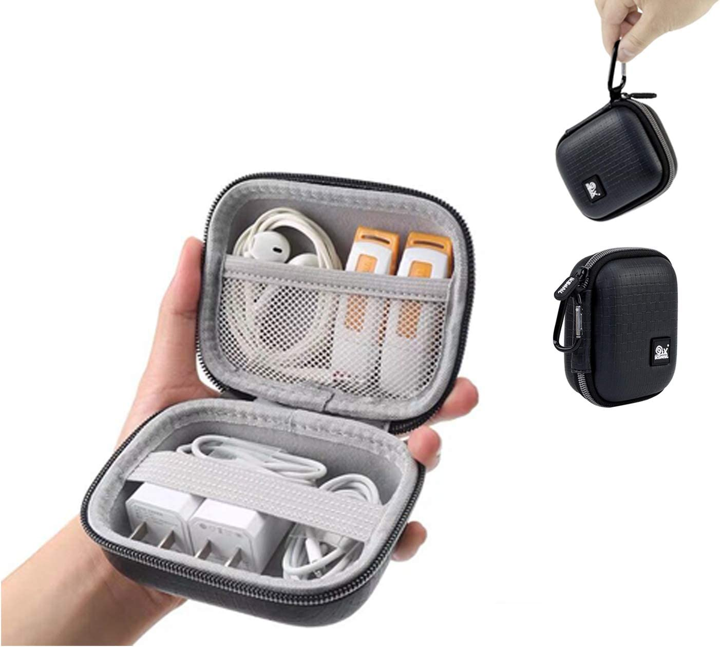 Small Hard Earphone Earbud Case – 4.7 Inch Earbuds Storage Case for Travel, Earbuds Case Pouch Holder for Wired Wireless Earbuds