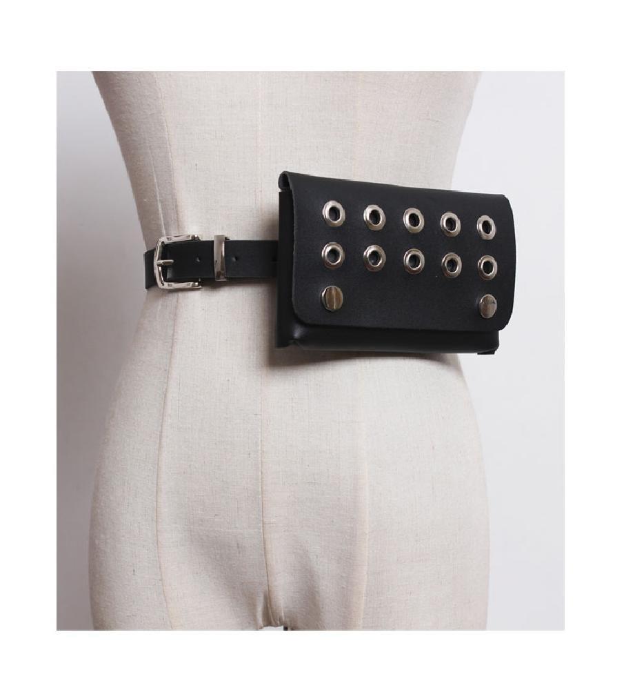 Summer Mini Bag Belts Travel Casual Hollow Metal Buckle For Women Waist Pack black 103cm
