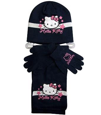 d22315ad93b1 Hello Kitty - Ensemble Bonnet, écharpe et Gants - Fille  Amazon.fr   Vêtements et accessoires