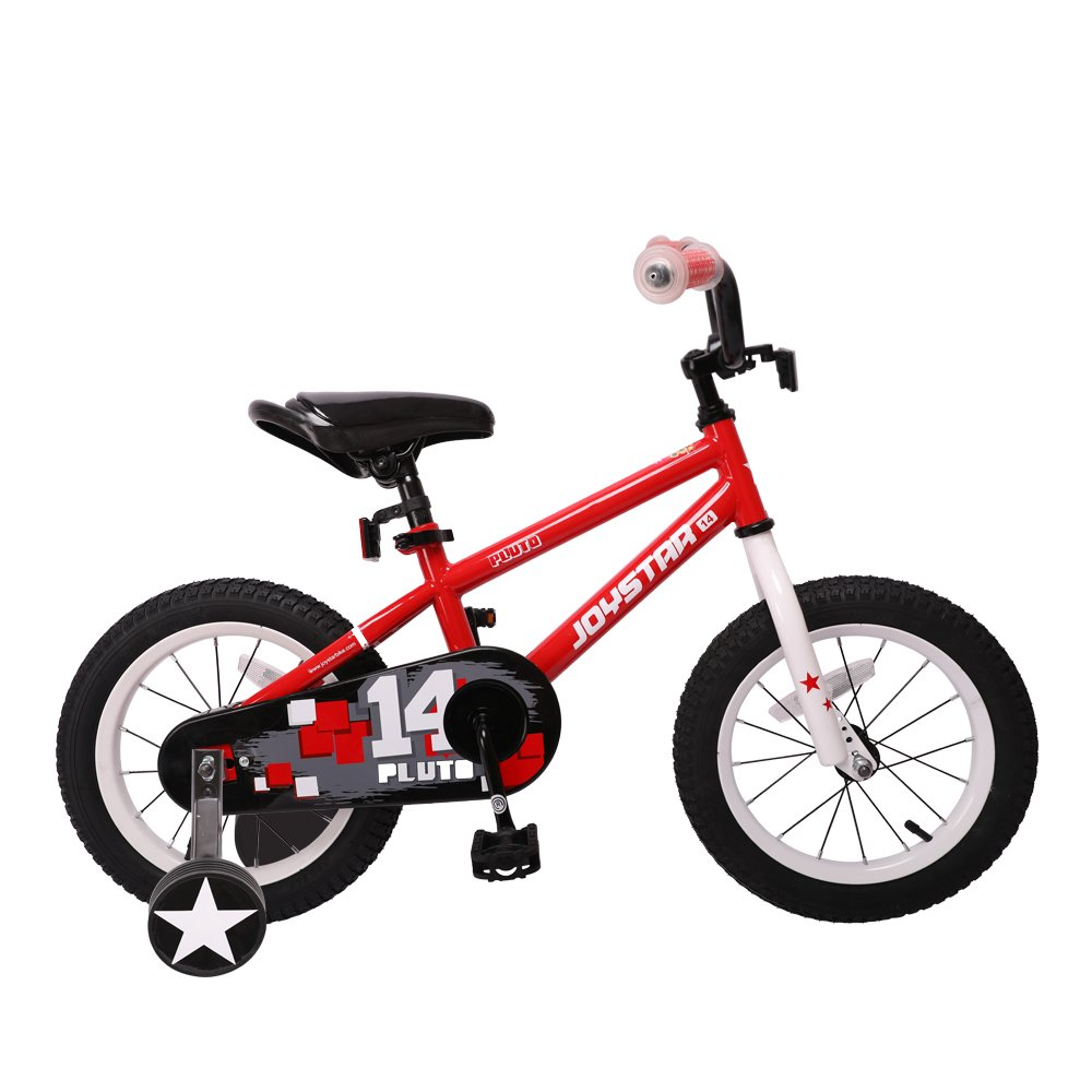 JOYSTAR 12'' Pluto Kids Bike with Training Wheels for 2 3 4 Year Old Boys & Girls, Unisex Kids Bicycle, Pedal Cycle for Toddlers, Red