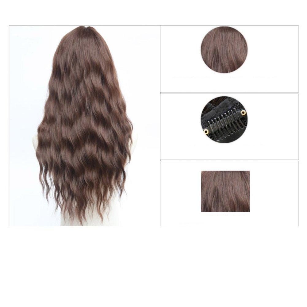 Mais heiße Hälfte-Perücke Perücken/ Mode Frauen Frauen Frauen lange Haare/ shaggy Perücke Mikro-Lautstärke-A 8c76df