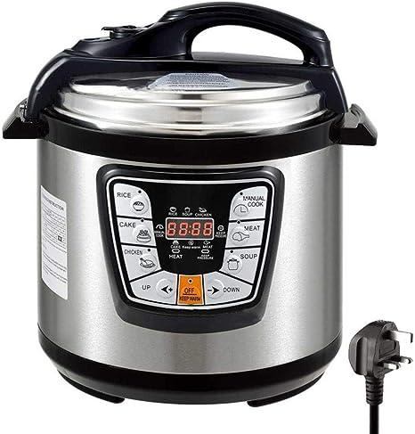 Rice Cooker DEENKEE 6 Quart Multi Pot Pressure Cooker 10-in-1 Instant Programmable Hot Pot Stainless Accessory Kit Yogurt Egg Slow Cook Saute Steamer