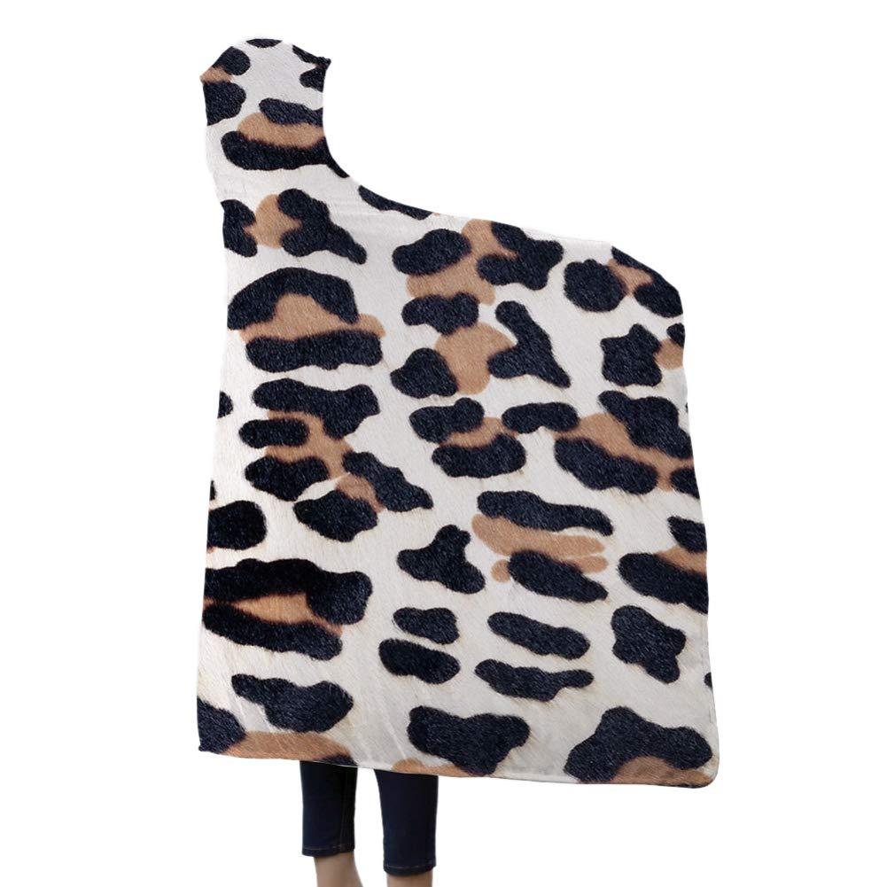 Norbi Hooded Blanket Super Soft Wearable Blanket Starry Sky Pattern Throw Wrap Cloak Cape-A1