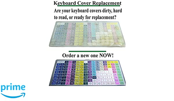 Amazon.com : SAM4s ER900 Sps300 series Flat Cash Register Keyboard Cover By Point Of Sale Team : Office Products