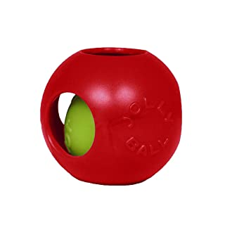 Jolly Pets Teaser Ball Dog Toy, Medium/6 Inches, Red