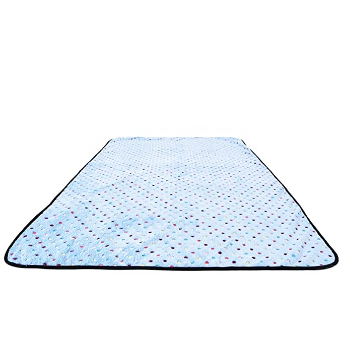 PAWZ Road Pet Dog Manta Fluffy Fleece Fabric Suave y Linda Warm Dot Print Manta Lavable para Gatos y Perros Azul 140 * 100cm: Amazon.es: Productos para ...