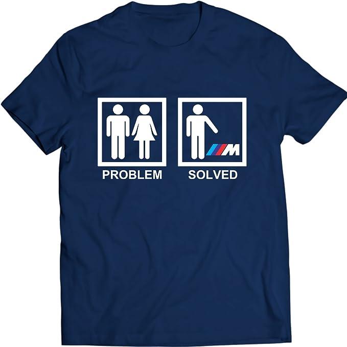 M Power T Shirt Problema Resuelto Auto tee: Amazon.es: Ropa y ...