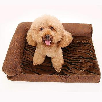 MUJING Sofá Ortopédico Sofá De Estilo Sofá Cama para Mascotas para Perros Y Gatos, Espresso, Pequeño: Amazon.es: Hogar