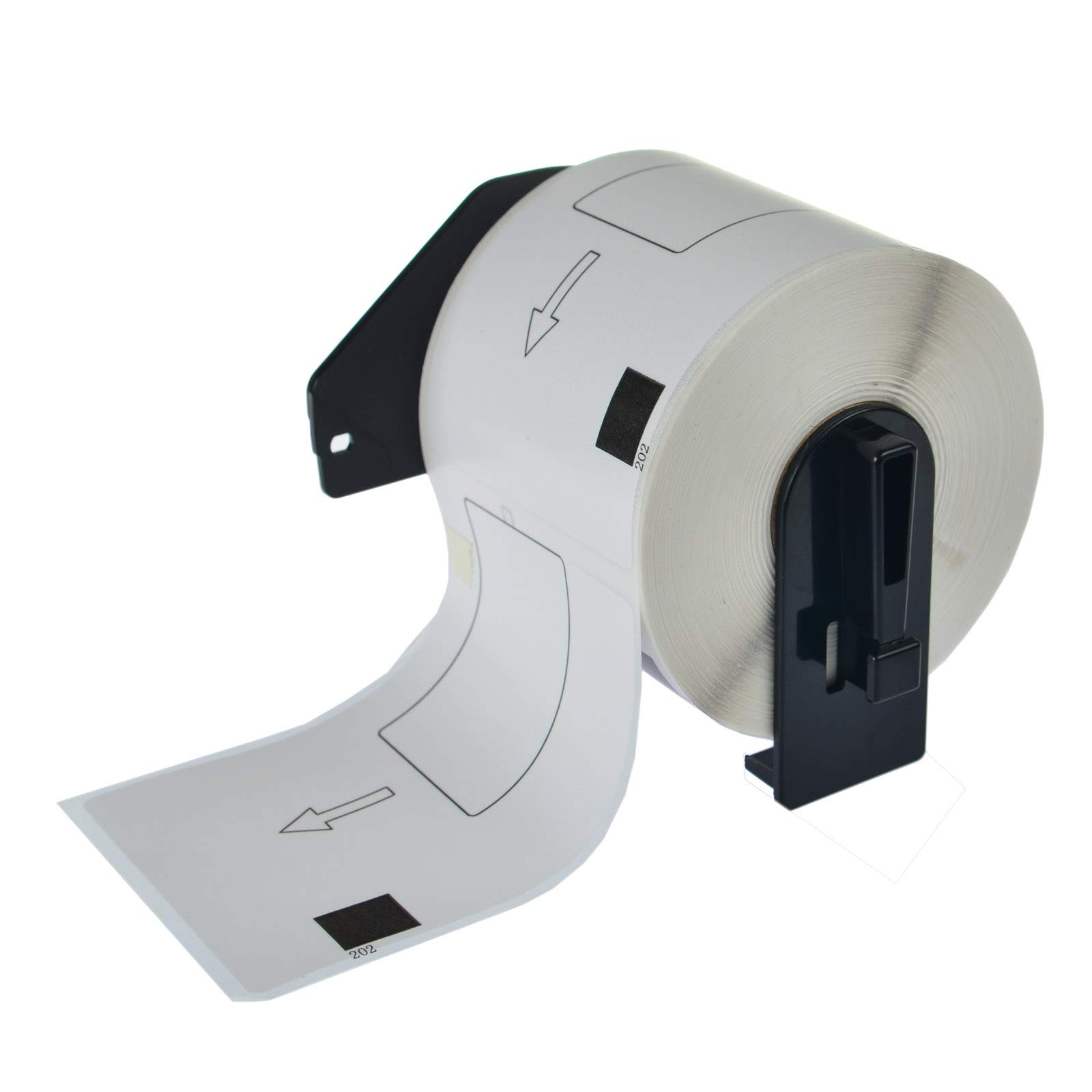 KCYMTONER 6 Rolls DK-1202 Compatible Continuous Paper Labels 2-3/7 Inches (62mm) by 100mm (4''), BPA Free, Strong Adhesive, Use in Brother P-Touch QL-500 QL-710W QL-1050 QL-1050N QL-1060N and More by KCYMTONER (Image #2)