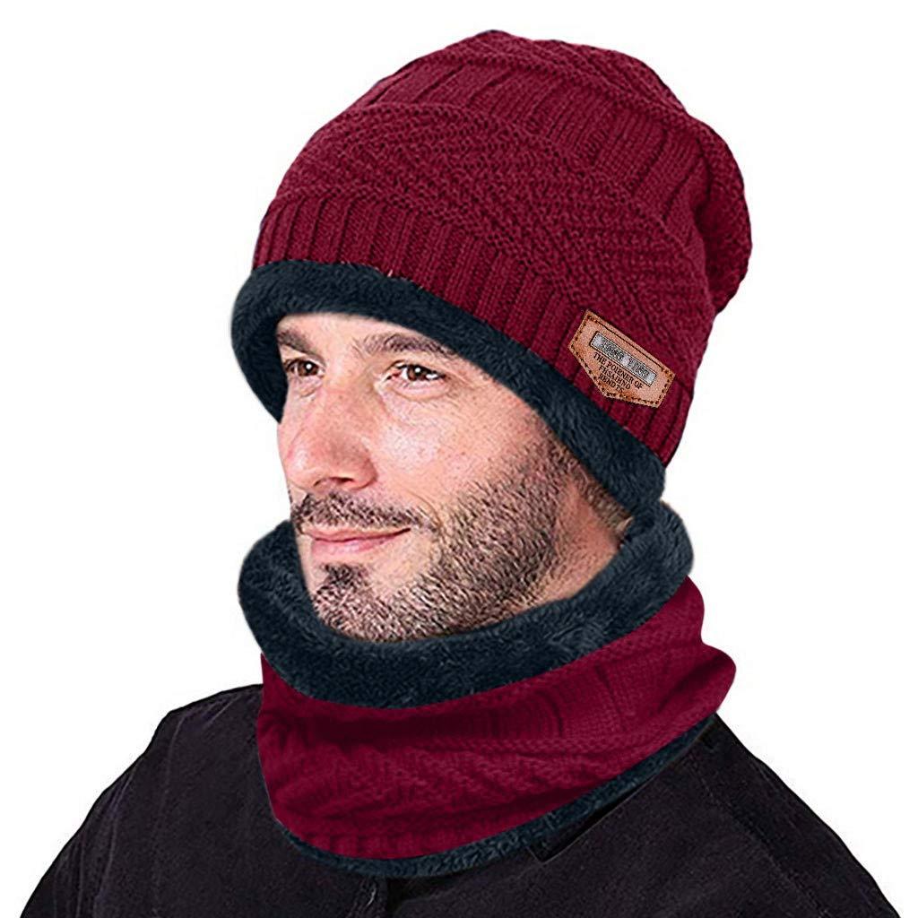 Alikitten Spessi Cappelli Invernale Berretti in Maglia con Sciarpa Beanie Set Cappello in Lana Sintetica Calda per Uomo e Donna Nero