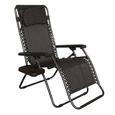 Abba Patio Zero Gravity Chair Recliner Patio Lounge Chair With Detachable  Drink Tray
