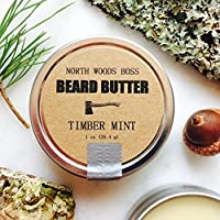 Beard Oil Beard Butter in Timber Mint 1 Ounce Handmade in Maine with Organic Oils Better than Beard Oil