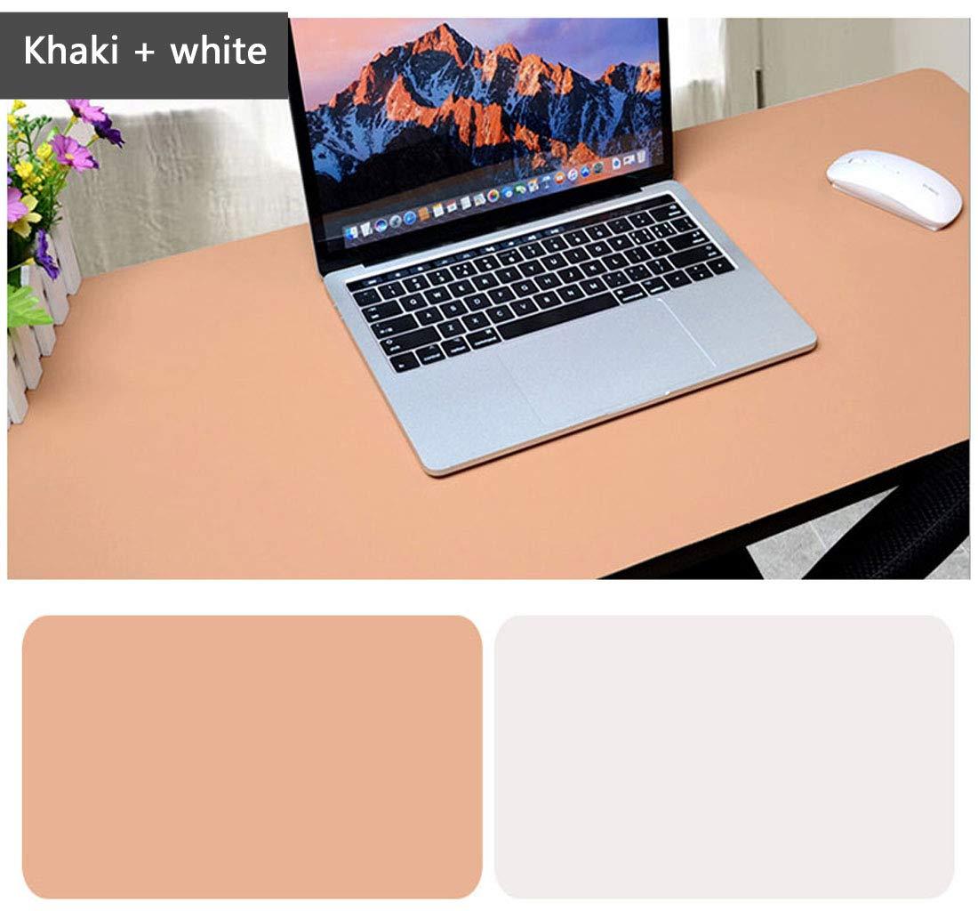 Schreibtischunterlage Multifunktionale Mauspad, 31,5 x 15,75 Zoll Rutschfeste Pu-leder Schreibtisch-maus-matte Wasserdichte Schreibtisch Pad Office/Home (Blau + Rosa) Saicok