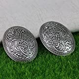ZHCHL Langhong 1pcs Nordic Vikings Amulet Sweden Scandinavian Dragon Brooches Viking brosch jewelry Talisman (Color Antique silver)
