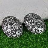 LiCHY Langhong 1pcs Nordic Vikings Amulet Sweden Scandinavian Dragon Brooches Viking brosch jewelry Talisman (Color: Antique silver)