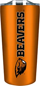 Oregon State University 18 oz Stainless Steel Double Walled Beverage Tumbler w/ Open & Close Lid - Zero Condensation - College Gear for PAC 12 - For Office, Home or Auto - Show Your OSU Pride