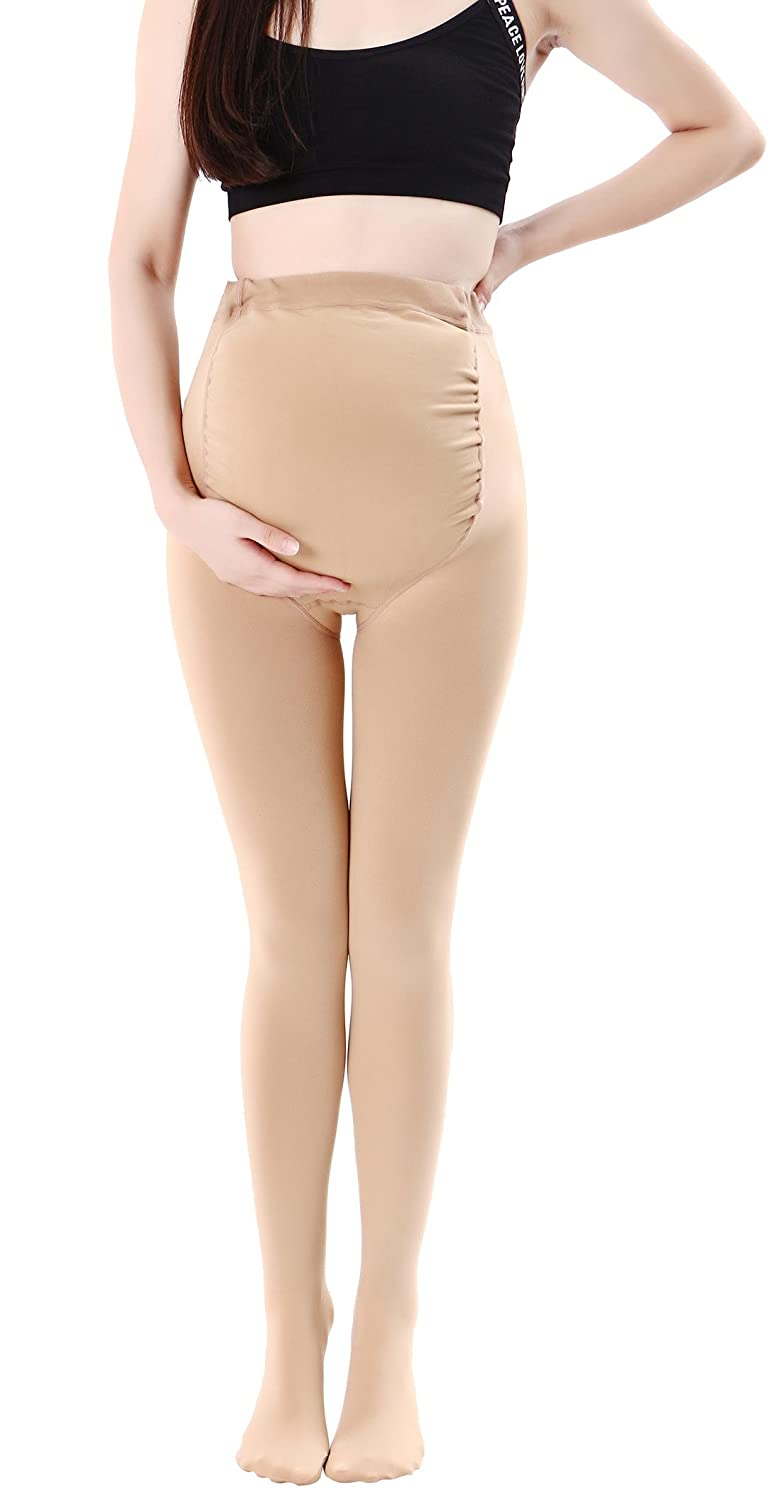 Canwen Klaen Women Stretch Maternity Leggings Support Compression Stockings