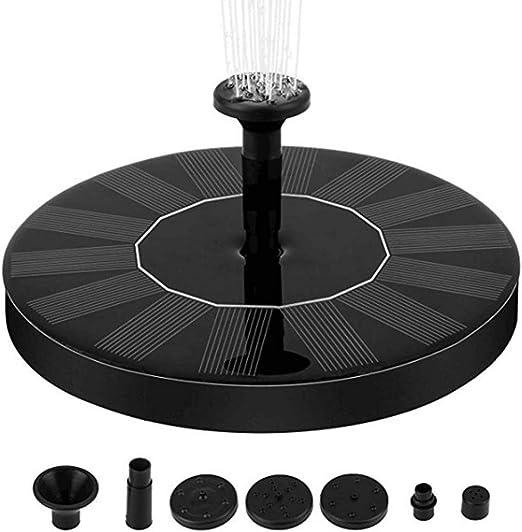 DOITOOL fuente solar flotante bomba de fuente de agua con energía solar fuente de panel solar al aire libre para jardín exterior piscina estanque patio decoración (negro): Amazon.es: Hogar