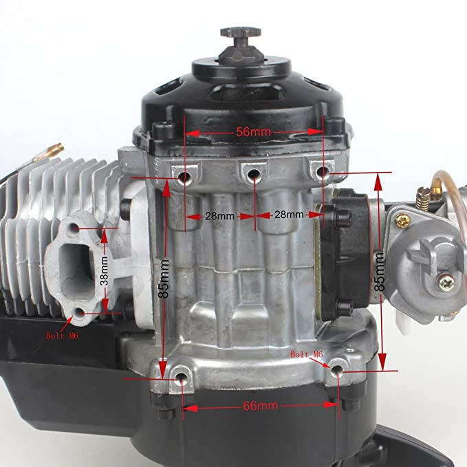 Motor para motocicleta de Wingsmoto, 49 cc, 52 cc Big Bore, motor ...