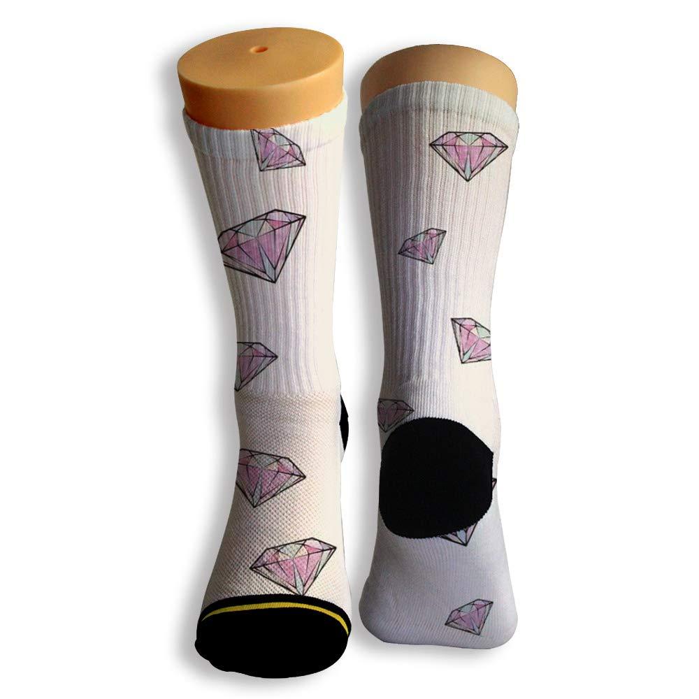 Basketball Soccer Baseball Socks by Potooy Diamond Design 3D Print Cushion Athletic Crew Socks for Men Women