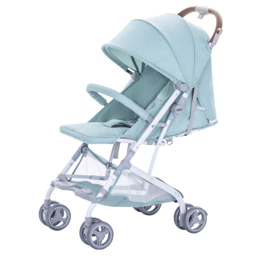 YRYRGXQ Pushchair 2 in 1 Baby Stroller Travel System Foldable Infant Buggy with Reversible Bassinet