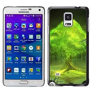 Caucho caso de Shell duro de la cubierta de accesorios de protección BY RAYDREAMMM - Samsung Galaxy Note 4 - Trees world