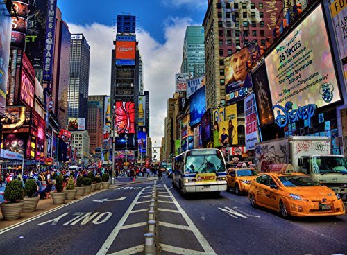 City Piece Jigsaw 500 (Adult Jigsaw Puzzle Times Square New York City Skyline Skyscrapers 500-Pieces)