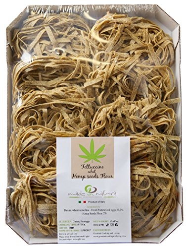 Fettuccine Pasta with Hemp Seed Flour