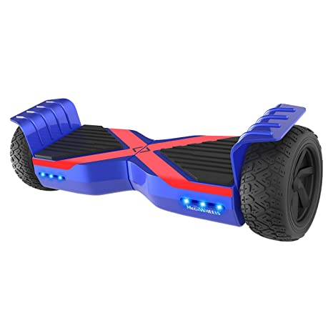 M MEGAWHEELS Hoverboard 8.5 Pulgadas, Patinete electrico con Bluetooth - Motor eléctrico 600w, Velocidad 10-15 Km/h. (Blue-Red)