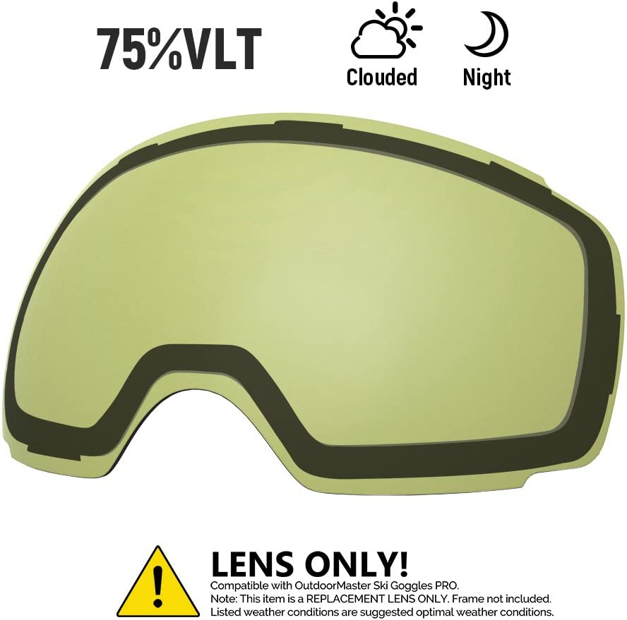 OutdoorMaster Ski Goggles PRO Replacement Lens – 20 Different Colors