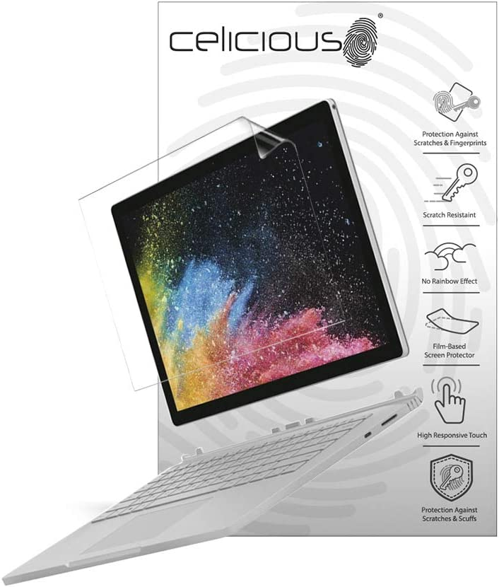 Celicious Vivid Plus Mild Anti-Glare Screen Protector Film Compatible with Microsoft Surface Laptop 3 13.5 Pack of 2