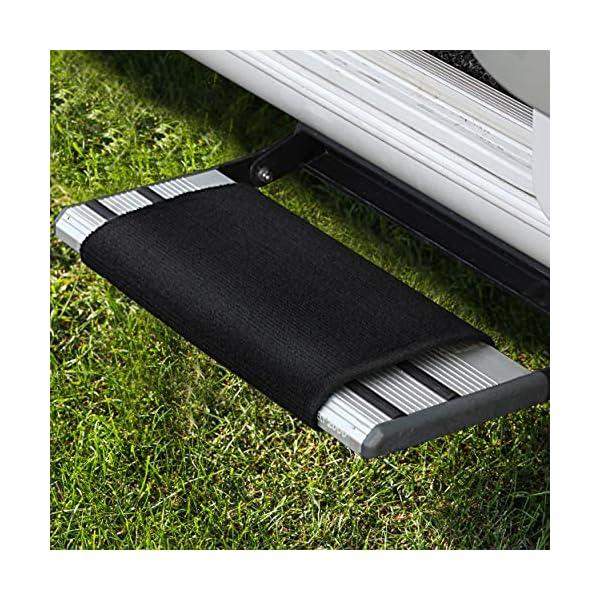 61Au1uSj35L FAIRMO Wohnmobil Trittstufen Fußmatte - Premium Teppich - Zubehör individuell passend - Clean Step Wohnwagen - Camping…