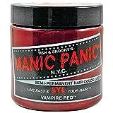MANIC PANIC Semi-Permanent Hair Color Cream Vampire Red 4oz by Manic Panic